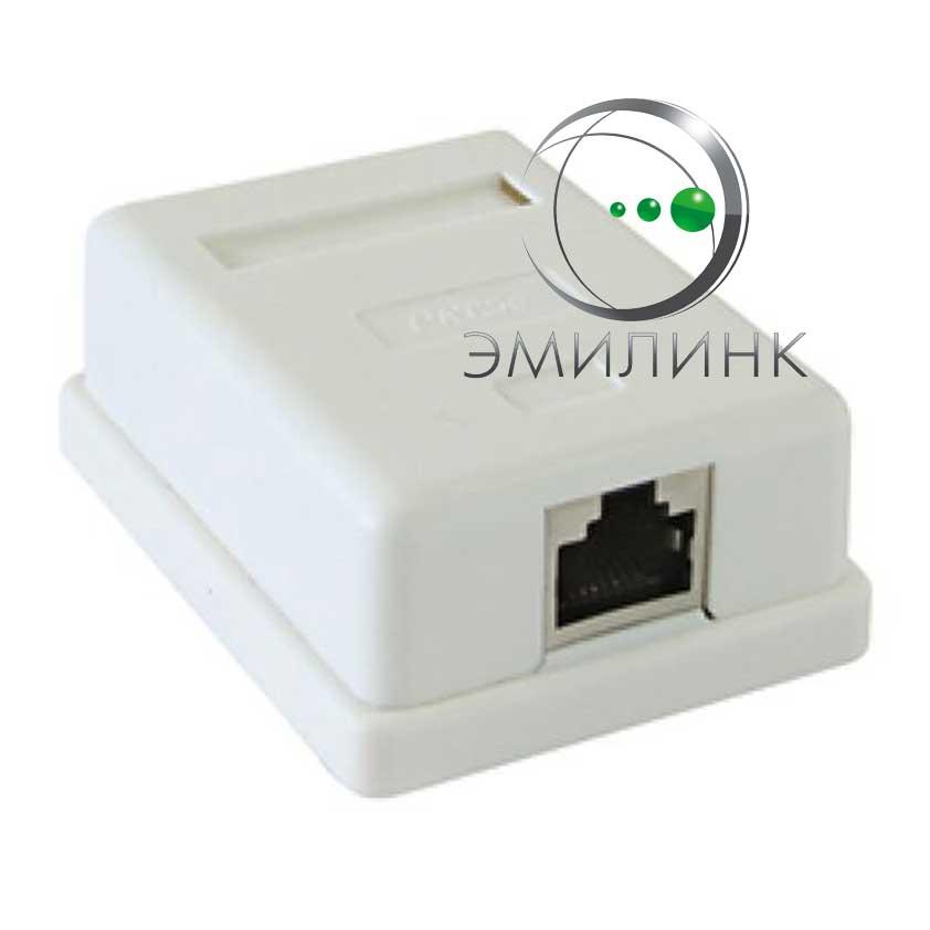 f5530d590cedc Компьютерная розетка накладная 1 порт RJ-45 UTP 5е кат. недорого в ...